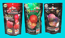 Set of 3 OKIKO High Quality Flowerhorn and Cichild Fish Food 100g Pellet Size L.