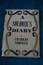 A Soldier's Diary by Charles Norman first edition Charles Scribner's Sons 1944