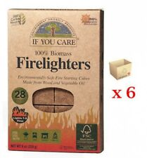 6 Packs If You Care 28 Firelighters Fire Starting Cubes Environmentally Friendly