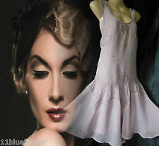 Topshop Flapper Dress Gatsby Downton Vintage 20's 30's Beaded Wedding 10 38 US 6