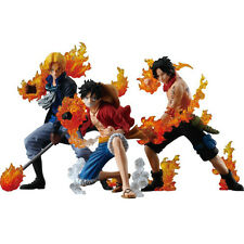 ONE PIECE Attack Styling Flaming Three Brothers Luffy Ace Sabo ACTION FIGURE NEW