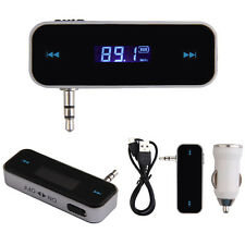 3.5mm Wireless FM Transmitter Radio Adapter for iPhone 5S/5C HTC W/Car Charger