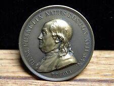 BENJAMIN FRANKLIN BIRTH MEDAL***MINTED IN 1784***BRONZE***46mm