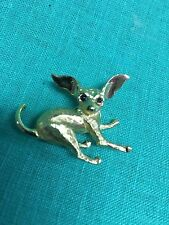 BOUCHER Golden Chihuahua Dog Signed & Numbered brooch/pin
