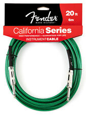 Genuine Fender® California Instrument Cable, 20', Surf Green 099-0520-057