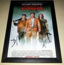 "PINEAPPLE EXPRESS X3 SIGNED & FRAMED 12""X8"" POSTER JAMES FRANCO SETH ROGAN"