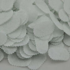 500pcs Felt 35mm oval White with Waves Appliques - Mix Free Shipping