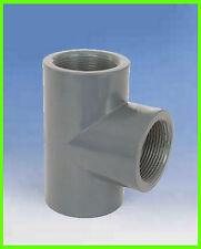 "PVC T-Stück 90° egal 1/2"", 3 x Gewindemuffe"