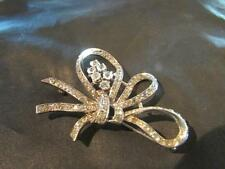 Beautiful Vintage Quality Solid Silver & Diamond Paste Brooch