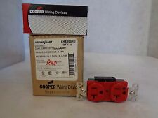 NEW BOX OF 10 ARROW HART/COOPER AH8300RD HOSPITAL GRADE RED DUPLEX RECEPTACLE