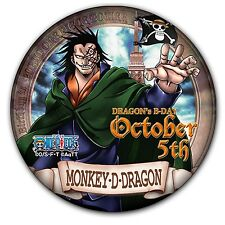 Tokyo One Piece Tower Only Birthday Can Badge Monkey D. Dragon -October 5th-