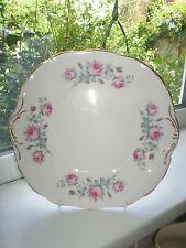 Salisbury Cake Plate Pink Roses Bone China British