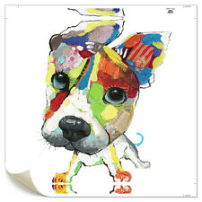 Canvas Prints Home Decor Wall Art Painting Picture-Cute Colorful Dog Unframed