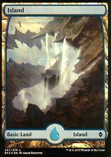 Island foil-versión 3 (full art) | nm/m | Battle for Zendikar | Magic mtg