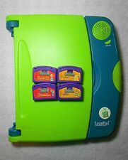 Leap Frog LeapPad Learning System with Pen+ 4 Game Cartridges- Fully Tested