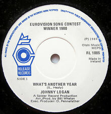 "7"" Vinyl Single: WHAT´S ANOTHER YEAR - Johnny Logan"