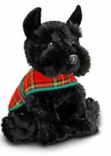 BRAND NEW KEEL TOYS BLACK SCOTTIE DOG WITH TARTAN JACKET