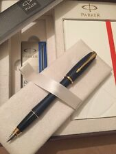 PARKER URBAN MATT BLUE GT FOUNTAIN PEN & NOTE BOOK DELUXE GIFT SET-BLUE INK