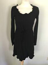 Gianni Versace Istante Vintage 90's Little Black Dress Ruffle Trim Sz 40 US 4 6