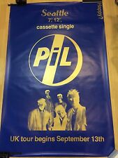very rare PIL promotional subway poster for Public Image Ltd. John Lydon Punk