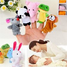 Zoo Animals 10pcs Finger Puppets Baby Child Fairy Tales Story Soft Cuddly Toys