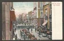 Spain Postcard Las Palmas Calle De Triana Soldiers & Horses L@@K