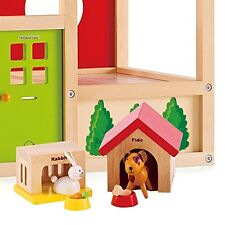 Family Pets, Dolls House Size Wooden Toy Play Set, Hape Toys E3455