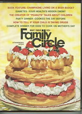 FAMILY CIRCLE magazine May 1968 Strawberry Spree-PEANUTS Charles Schulz-DIABETES