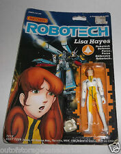 Robotech Lisa Hayes Action Figure MOC 1985 Matchbox Irwin Canada Card