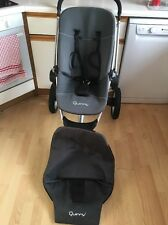 Quinny Buzz Black & Grey Full Seat Unit ONLY With Newborn & Xl Cover VGC