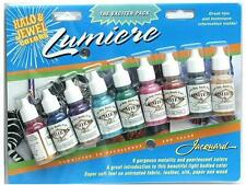 Jacquard Lumiere Halo & Jewels set of 9 colours of fabric paint