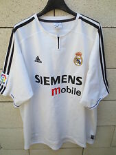 VINTAGE Maillot REAL MADRID camiseta ADIDAS shirt football maglia XL blanc