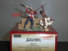 BRITAINS 20147 ZULU WAR WARRIOR + BRITISH 24TH FOOT DEADLY DANCE TOY SOLDIER SET