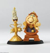 Enchanting Disney A26914  Cogsworth & Lumiere Figurine in Gift box   23240