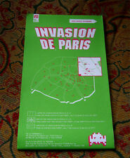 SPACE INVADER PARIS INVASION MAP new un signed print kit 13 14 15