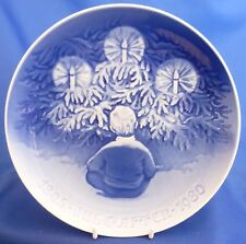 "ROYAL COPENHAGEN CHRISTMAS 8 7/8"" COLLECTOR PLATE - HAPPINESS OVER THE YULE TREE"