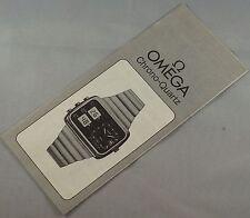 Rare Vintage Original 70s NOS OMEGA Seamaster Chrono Quartz Booklet Calibre 1611