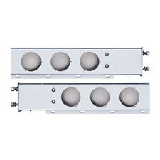 "Deluxe Stainless Spring Loaded Light Bar w/ Round Cutout - 3 3/4"" Bolt Pattern"