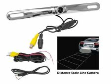 PYLE PLCM18SC License Plate Mount Rear View Backup Color Camera Distance Scale