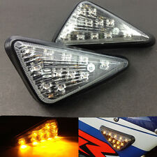 Motorcycle Flush Mount LED Turn Signals Amber Light For CBR600RR F4i GSXR R1 R6