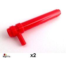 LEGO Friction Cylindre avec Poignée 1X5 1/2 (Paquet de 2) NOUVEAU 87617 Rouge