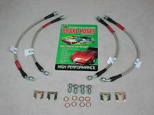 1984-1987 Corvette Braided Stainless Steel Brake Hose Set Kit DOT Approved
