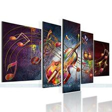 Music Note Guitar Unframed HD Canvas Print Home Decor Wall Art Picture Poster