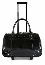 Patent 2-Wheel Computer/Laptop Rolling Bag Carry-On Trolley Tote Handbag (Black)