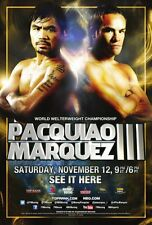 Manny Pacquiao Vs. Juan Manuel Marquez Poster 24in x 36in