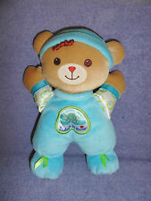 FISHER PRICE  BABY'S 1ST BEAR BLUE RATTLE  LOVIE COZY 10""