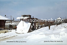 Boston&Maine RR Snowplow Porthsmouth Branch at Manchester NH 1967