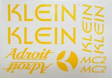 Klein Adroit Paint Mask Decals ~ Klein Frame, Fork, MC2, Head Tube Decals