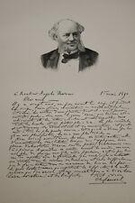 GRAVURE SUR BOIS DOCTEUR FAUVEL COCA  ALBUM MARIANI 1894 AUTOGRAPHE