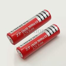 2x New 18650 3.7V Rechargeable Li-ion Battery 3800mAh for LED Flashlight torch